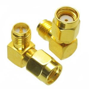 RP-SMA Male to RP-SMA Female 90 degree Adapter