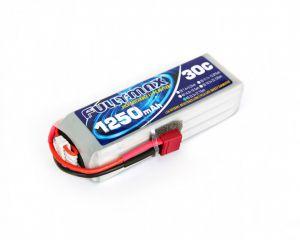 Fullymax 22.2V 1250mAh Li-Po 6S 30C T-plug