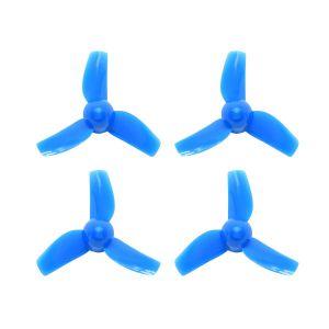 Blue 40mm 3-blade Micro Whoop Propellers (4 Sets)