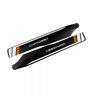 175mm Main Blades for OMP M2 Explore and M2 V2 Helicopters Orange