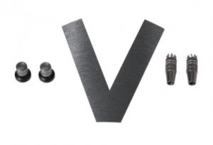 Stick/Knob-Set gun metal
