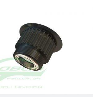 H0675BL-27-S ALUMINUM ENGINE PULLEY 27T - GOBLIN BLACK NITRO