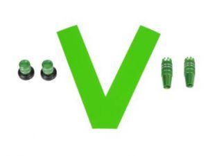 Stick/Knob-Set metallic green