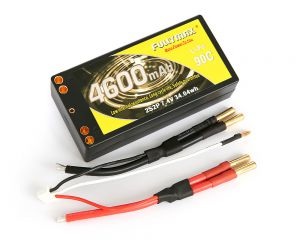 Fullymax 7.4V 4600mAh Li-Po 2S2P 90C, HardCase (Shorty Pack, Competition)