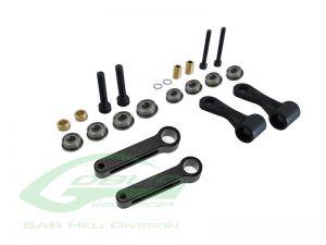 H0132BM-S - RADIUS ARM SET BLACK MATTE