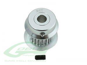 H0501-21-S - ALUMINUM MOTOR PULLEY 21T - GOBLIN 380