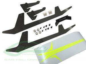 H0652-S - CARBON FIBER LANDING GEAR SET - GOBLIN 500 SPORT