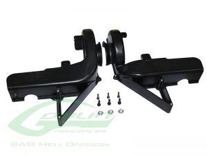 H0662-S - PLASTIC FAN CASE SET - GOBLIN BLACK NITRO