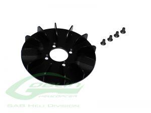 H0671BM-S - ALUMINUM ENGINE FAN - GOBLIN BLACK NITRO