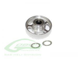H0766-S ALUMINUM ONE WAY PULLEY - GOBLIN BLACK NITRO 650/700