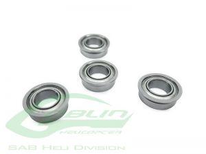 ABEC-5 Flanged Bearing Ø5 x Ø13 x 4(4pcs) - Goblin 500/570
