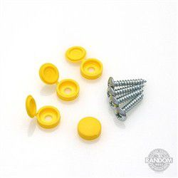 Mounting Screws and Yellow Covers for STC8090 Skid Clamp Bases
