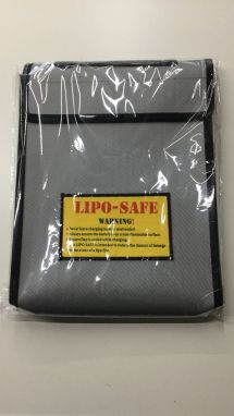 300x230x50mm Three-dimensional RC Fireproof Lipo Battery Bag Black