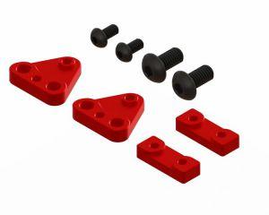 LX1580 - Gaui X3 - Tail Servo Mount CNC Set - Red