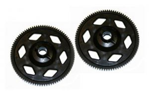 SA00059A OUTRAGE Main Tail Drive Gear 90T (BLACK) - Velocity 50N1/N2/ Fusion 50