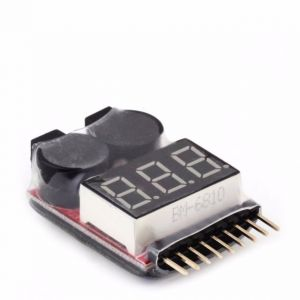 1-8s 2 In1 RC Li-ion Lipo Battery Voltage Meter Low Tester Buzzer Alarm