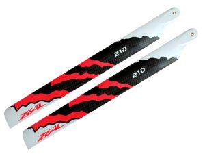 ZEAL Carbon Fiber Main Blades 210mm Energy (Neon Orange)