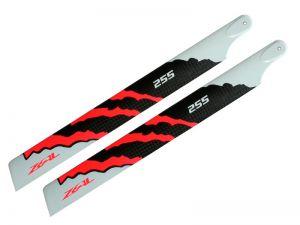 ZEAL Energy Carbon Fiber Main Blades 255mm (Neon Orange)