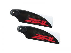 ZEAL Carbon Fiber Tail Blades 105mm (Neon Orange)
